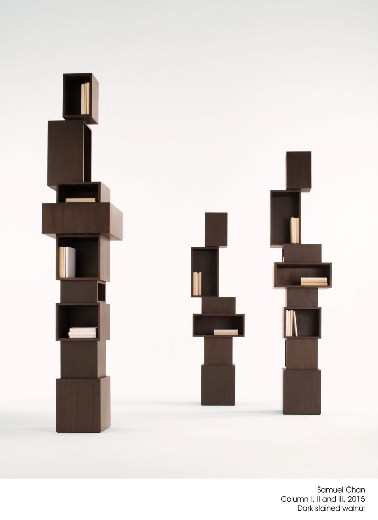 Column Bookcases by Samuel Chan
