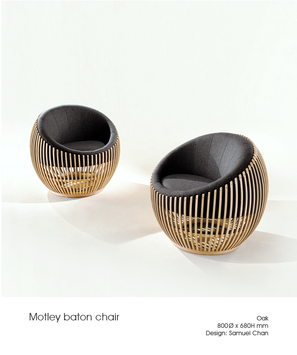 Motley Baton Chair by Samuel Chan