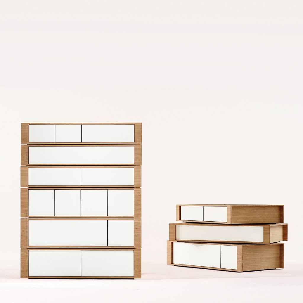 Motley Pallet Drawers by Samuel Chan