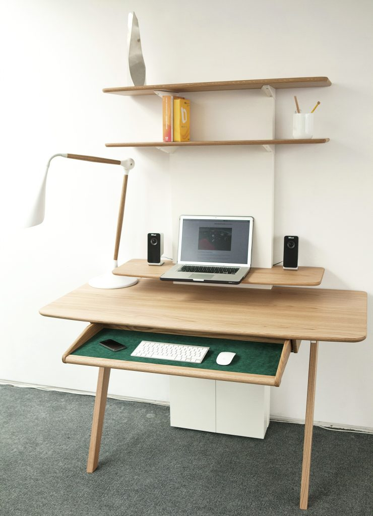 Aerofoil Desk and Bureau by Sebastian Conran