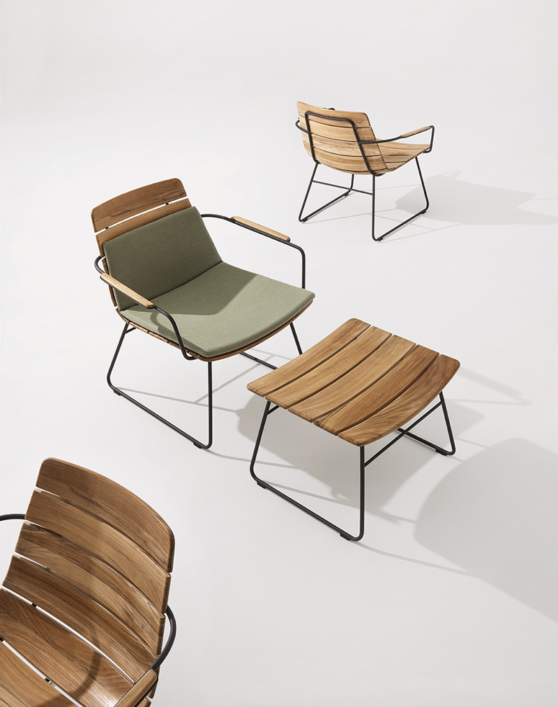 William Lounge Chair and Ottomon by Mark Gabbertas